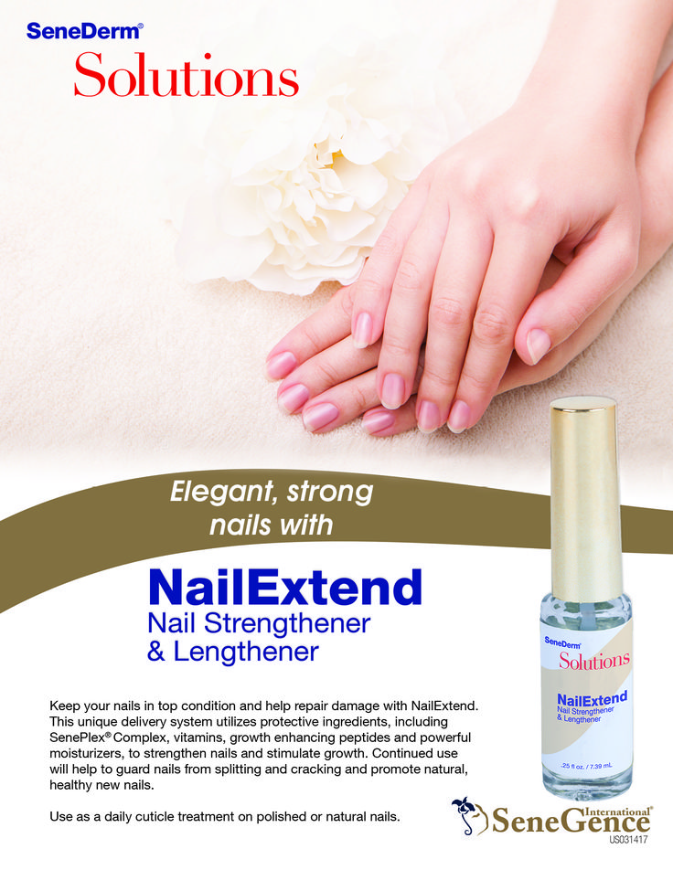 NailExtend is formulated with an effective blend of growth-enhancing peptides, moisturizers and vitamins to help get your nails in top condition.