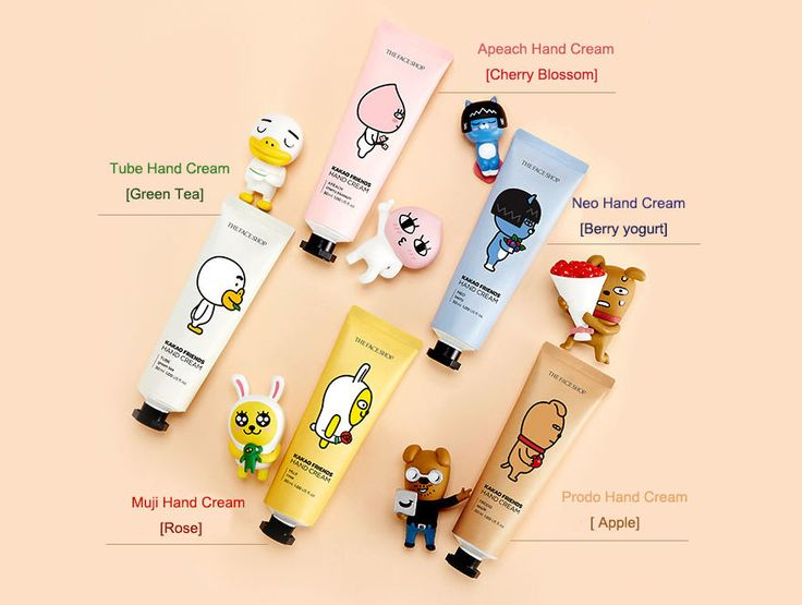 [The Face Shop] Kakao Friends Edition Hand Cream 5 Type #TheFaceShop