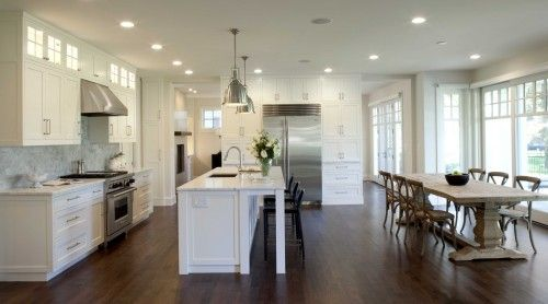 perfect: Dining Room, Contemporary Kitchens, Kitchen Design, House, Kitchen Ideas, White Kitchens
