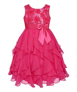 Watermelon Sequin Ruffle Dress - Infant, Toddler & Girls