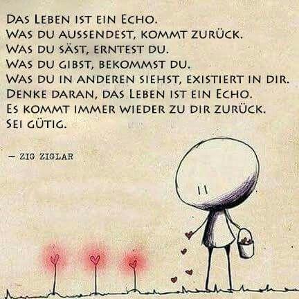 ...das Leben ist ein Echo...❤❤❗
