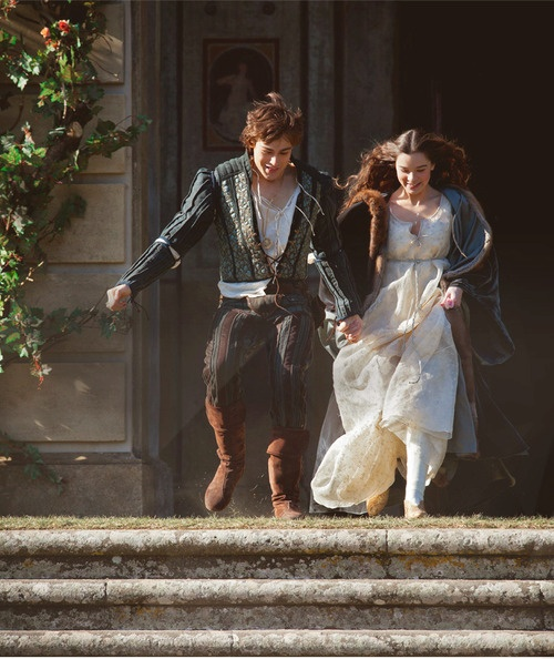 """""""My only love sprung from my only hate."""" Still from the upcoming Romeo and Juliet film starring Douglas Booth and Hailee Steinfeld"""
