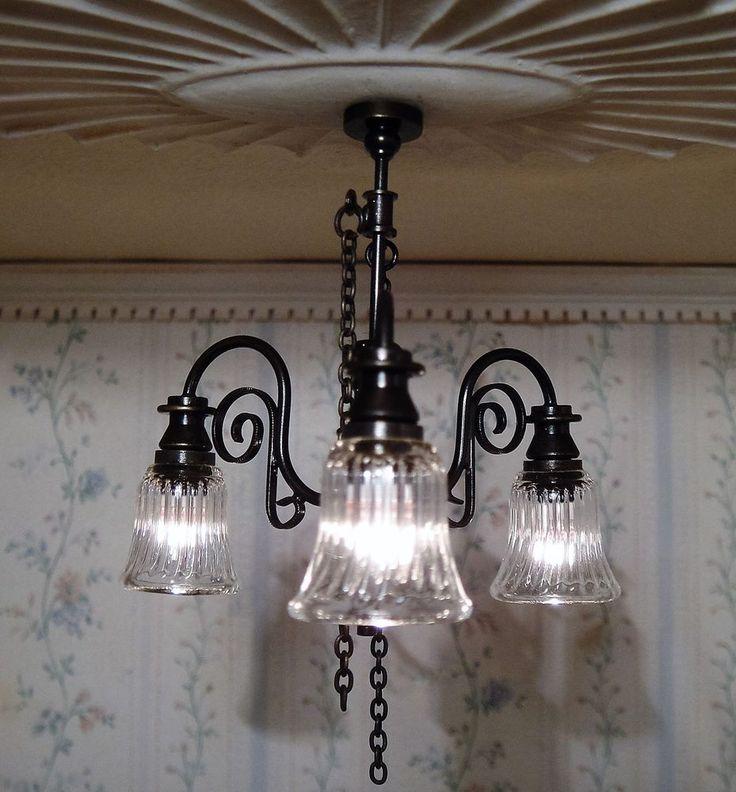 Dollhouse Ceiling Light: 174 Best Miniature Lighting Images On Pinterest