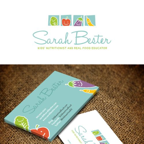 Logo and Business Card for Kids Nutritionist