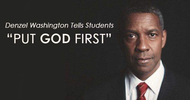 Hollywood Actor Denzel Washington Tells Students to Put God First