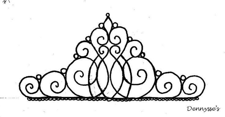 Tiara template for cake topper