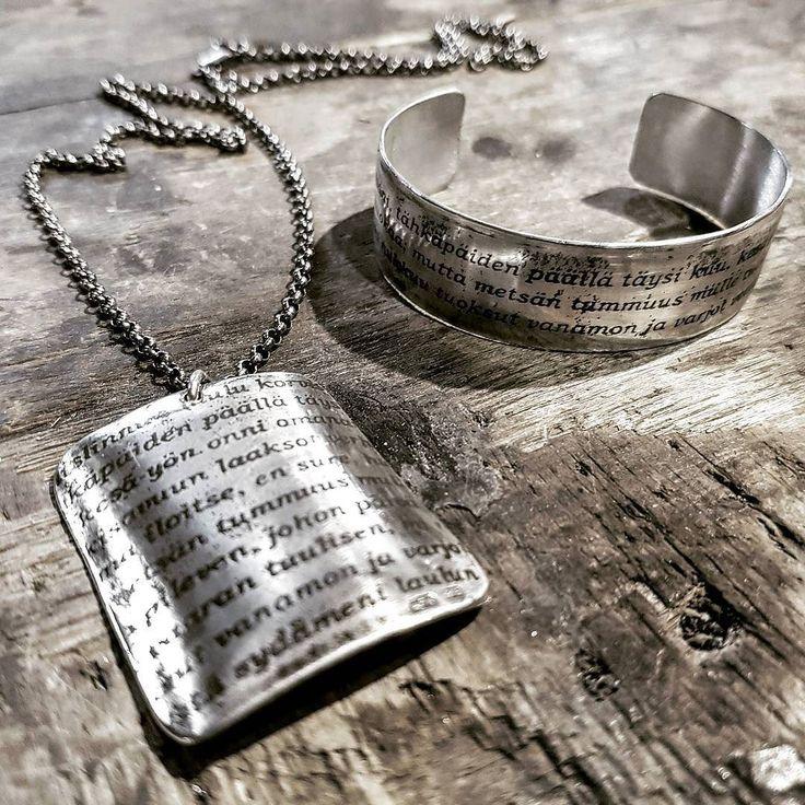 saisko olla tekstikoru? tai vaik koko sarja?  #uniikkikorut #hopeakorut #finnishdesign #textjewelry #aed #koruseppä #kerava