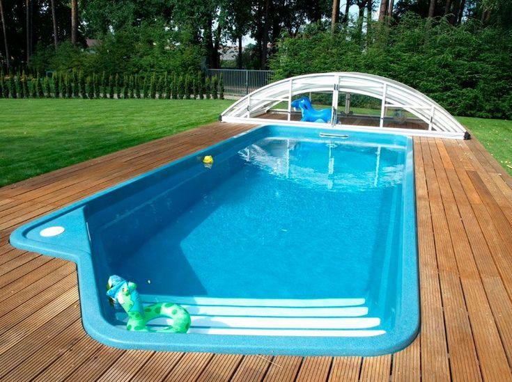 best 25 above ground fiberglass pools ideas on pinterest diy in ground pool best above ground pool and swimming pool decks - Above Ground Fiberglass Lap Pools