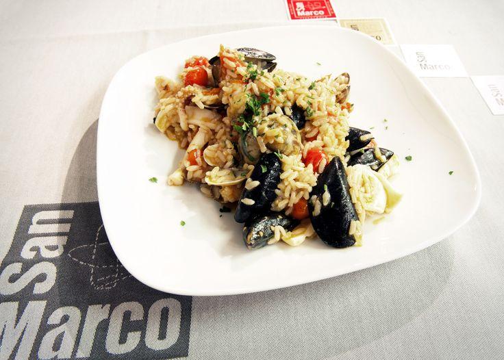 """Tra i primi di mare più prelibati, povero di grassi e ricco di gusto... iniziamo la settimana con un bel """"Risotto allo Scoglio"""". #monday #ristorante #roma #pizzeriasanmarco"""