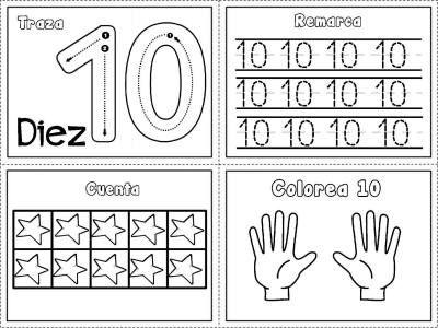 Grafomotricidad números del 1 al 10 (10)