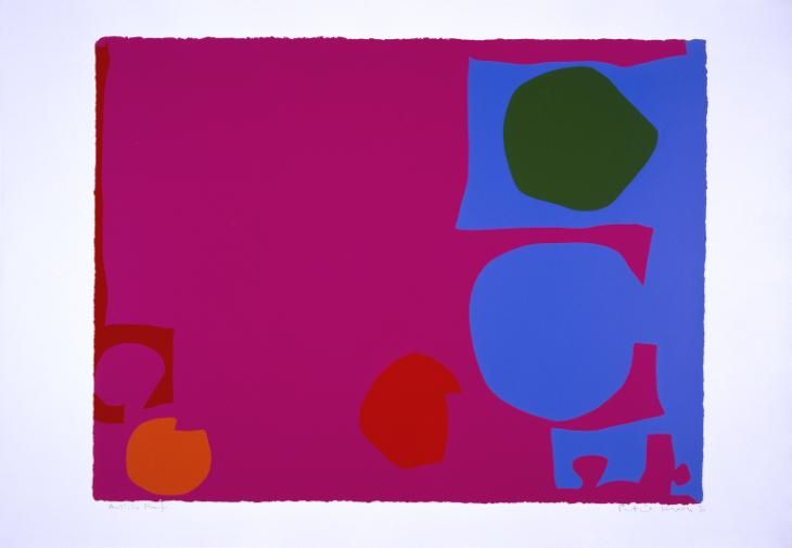 Patrick Heron 'Three Reds in Magenta and Green in Blue : April 1970', 1970 © Estate of Patrick Heron. All Rights Reserved, DACS 2016