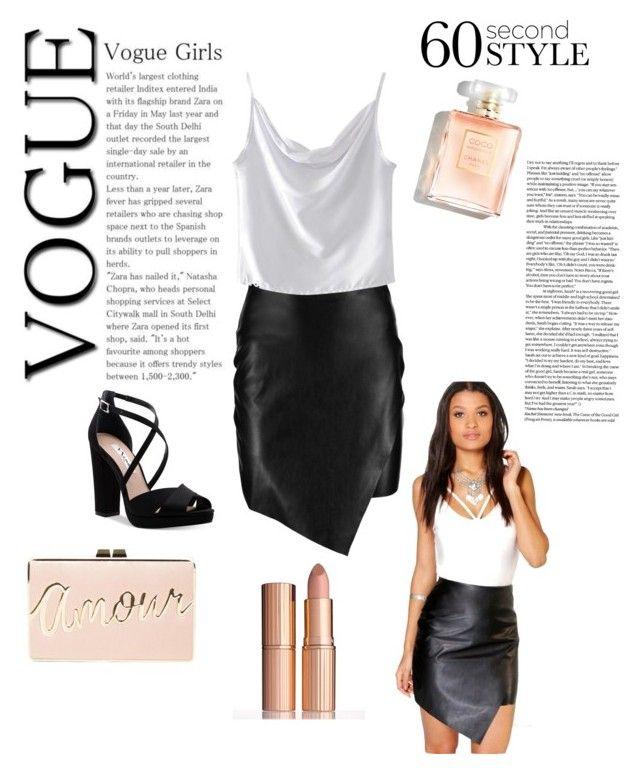 black & white! by evanelizabeth3 on Polyvore featuring polyvore, fashion, style, WithChic, Boohoo, Nina, BCBGMAXAZRIA, clothing, asymmetricskirts and 60secondstyle