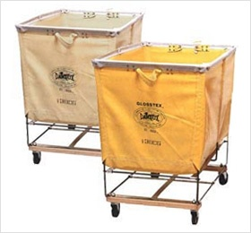 industrial laundry baskets on wheels