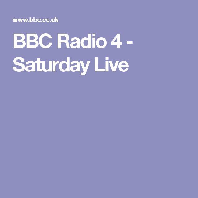 BBC Radio 4 - Saturday Live