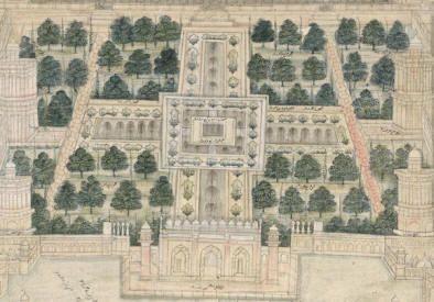 Taj Mahal charbagh Gardens, 18th c., Sackler, Smithsonian