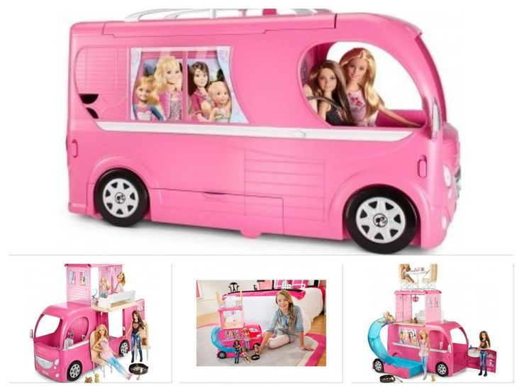 Barbie Pink Glamour Camper Dream House Glam Doll Van Pop Up RV Gift Set Bus Pool | eBay