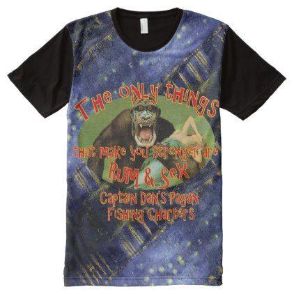 #fishing - #Captain Dan's Pagan Fishing Charters All-Over-Print T-Shirt