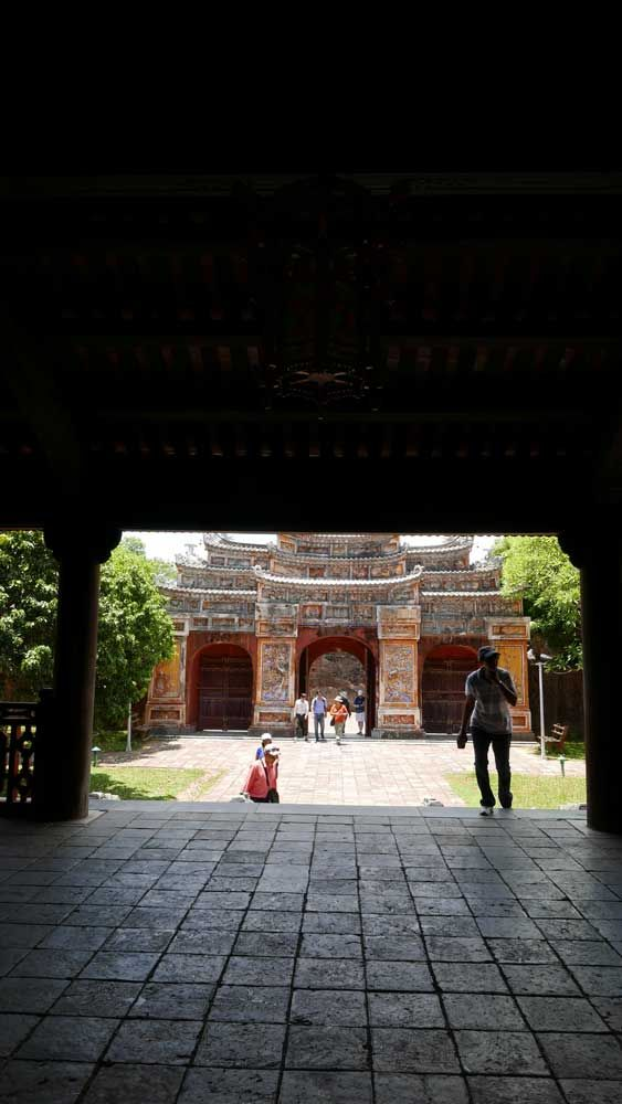 A quiet courtyard in the Hue Citadel, Vietnam