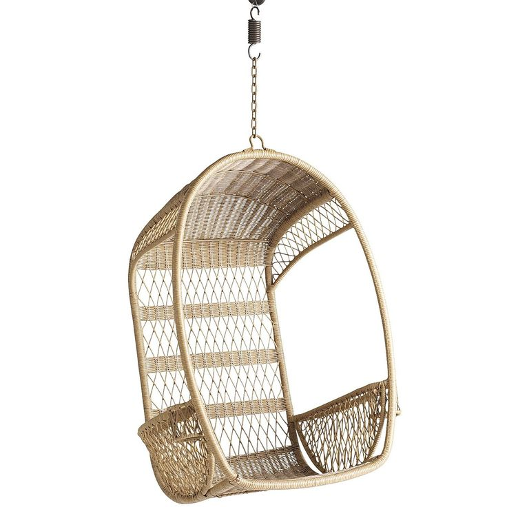 Pier One Swingasan®   Light Brown An Airy, Open Weave Back, Side · Swinging  ChairChair ...