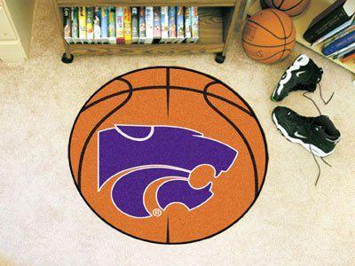 """Kansas State Basketball Mat 27"""" diameter"""