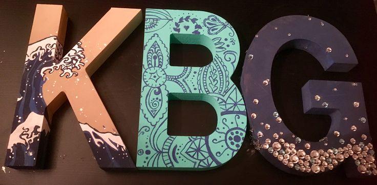 Kappa Beta Gamma painted sorority letters