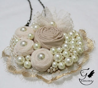 Creme Vintage Statement Necklace
