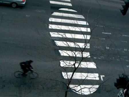 A reimagined crosswalk. Excellent.