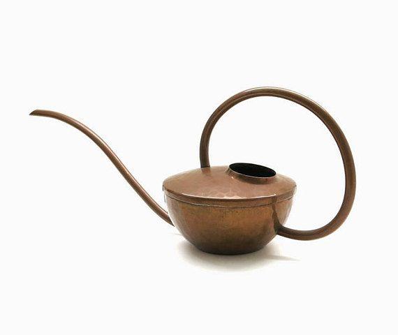 Copper Watering Can Bauhaus Mid Century Design