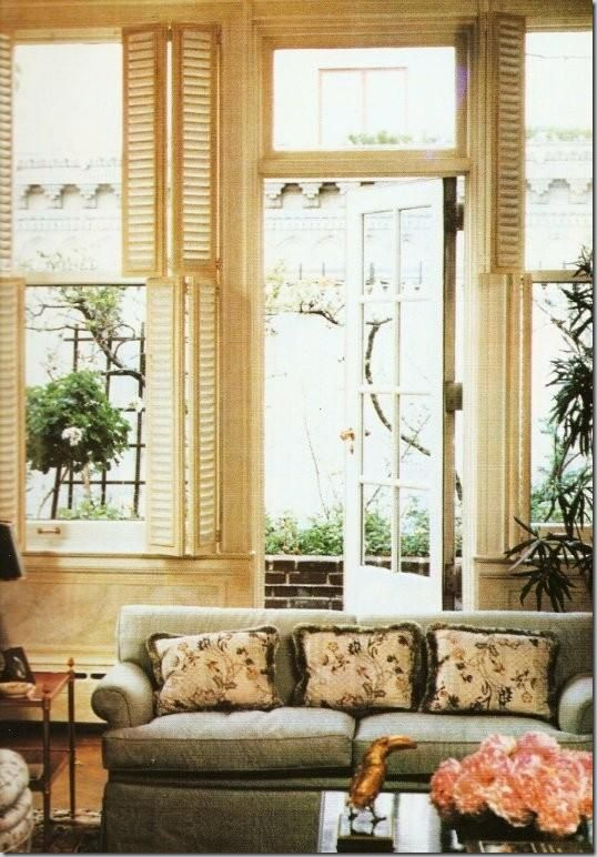 Lee Radziwell/ shuttersTotally Difference, Lee Radziwell, Parks Avenue, French Doors, Living Room, Windows Ideas, Avenue Apartments, Lee Radziwill, Turville Grange