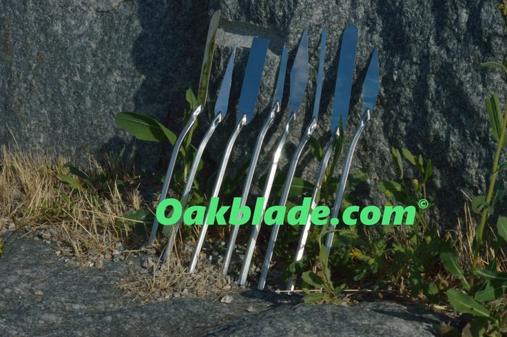 Handmade palette knives for painting directly to work. Not another mixing knife.  OAKBLADE.COM