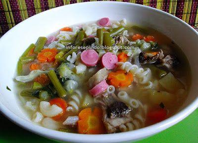Resep Sup Wortel Bakso Sapi Makaroni/  resep masakan Indonesia