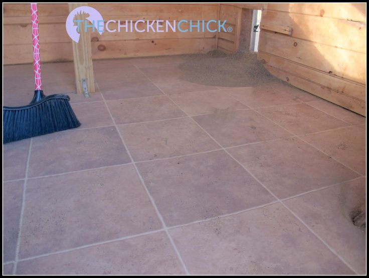 Use linoleum flooring in the bottom of the coop to make it simple to hose down when changing the litter out