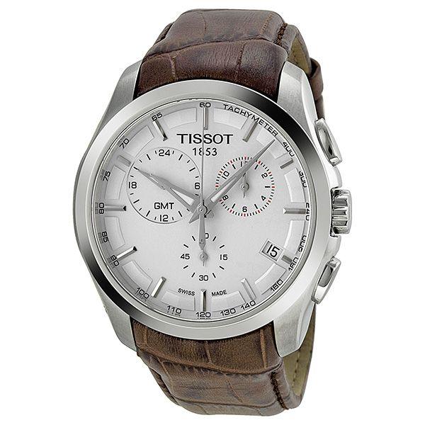 Tissot Couturier GMT White Dial Men's Watch T0354391603100