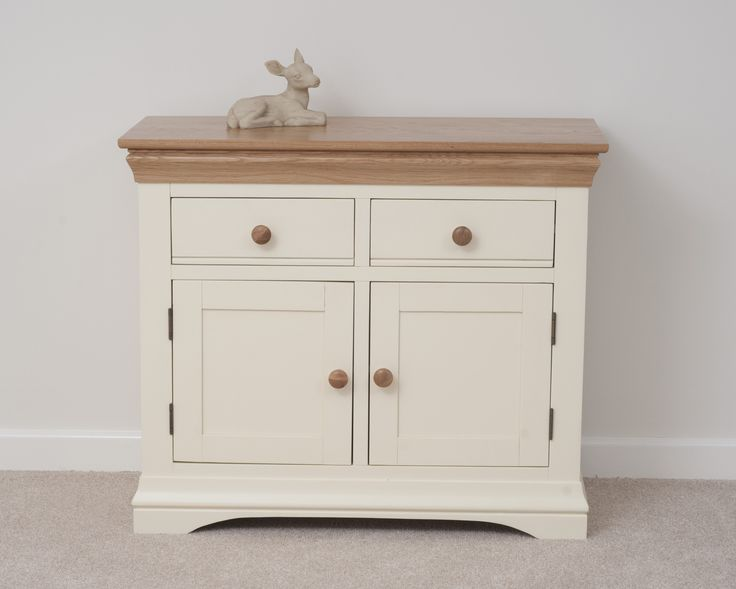 Country cottage painted funiture cabinet cream small sideboard oak furniture land www for Cream painted furniture living room