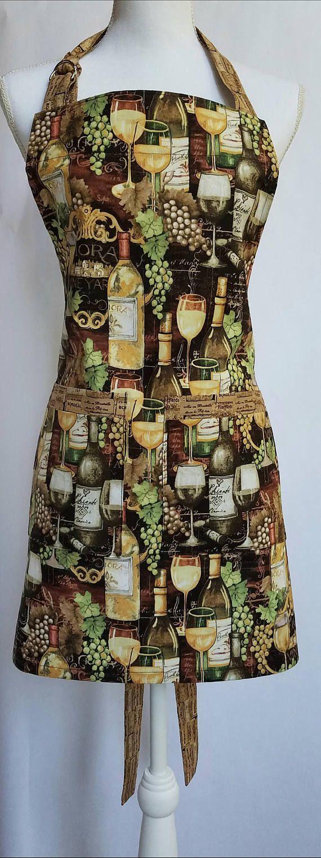 Wine Apron Italian Wine Apron Chianti And Grapes Full Apron Wine Apron Gifts For Wine Lovers Apron