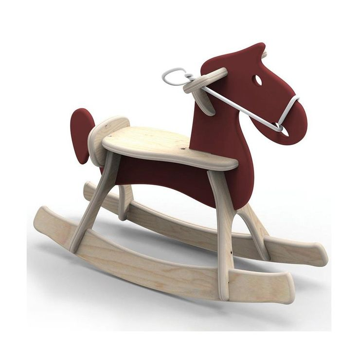 Wooden rocking horse  Classic shape, a great decoration for every child's room Solid and light, made of water resistant birch plywood Safe: complies with DIN EN 71-3 (safety of toys) DIN 53160 parts 1 and 2 (resistance to saliva and perspiration) norms