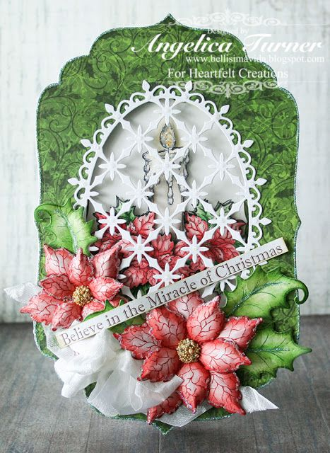 Bellisima Vida: New Sparkling Poinsettia Collection from Heartfelt Creations