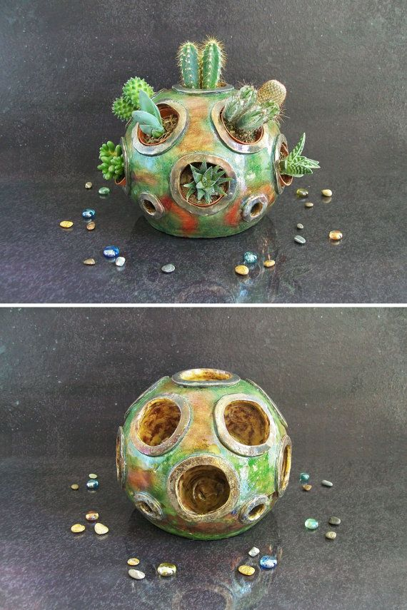 Guarda questo articolo nel mio negozio Etsy https://www.etsy.com/it/listing/463034319/fioriera-in-ceramica-raku-corallo-vaso