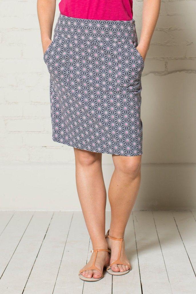 GEO STAR dámská sukně z biobavlny - světle šedá 30denni garance vraceni zbozi logo  - fair trade oblečení z biobavlny, bambusu, konopí, modalu, tencelu a merino, přírodní kosmetika, bambucké máslo, fairtrade bytové doplňky