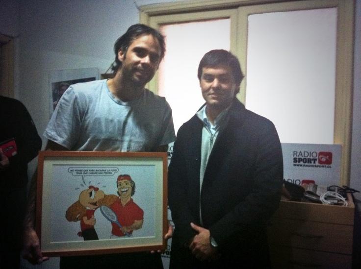 Con un grande del tenis nacional Fernando González