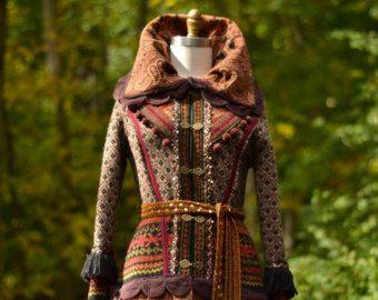 Patchwork personnalisé boho Fantasy pull manteau par amberstudios