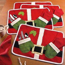 Podkładka tabeli Danie Miska Żywności Dekoracji Boże Narodzenie Home Party Santa Claus Maty(China (Mainland))