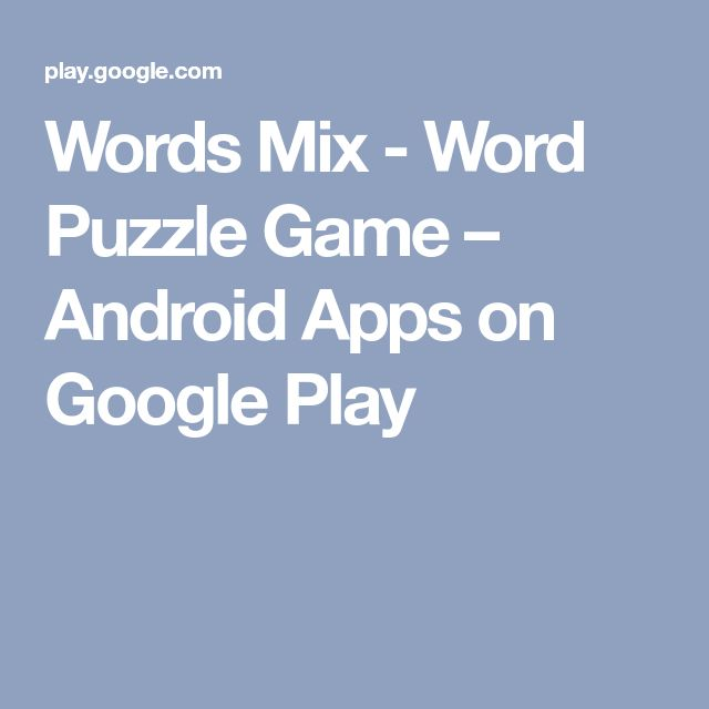 Words Mix - Word Puzzle Game – Android Apps on Google Play