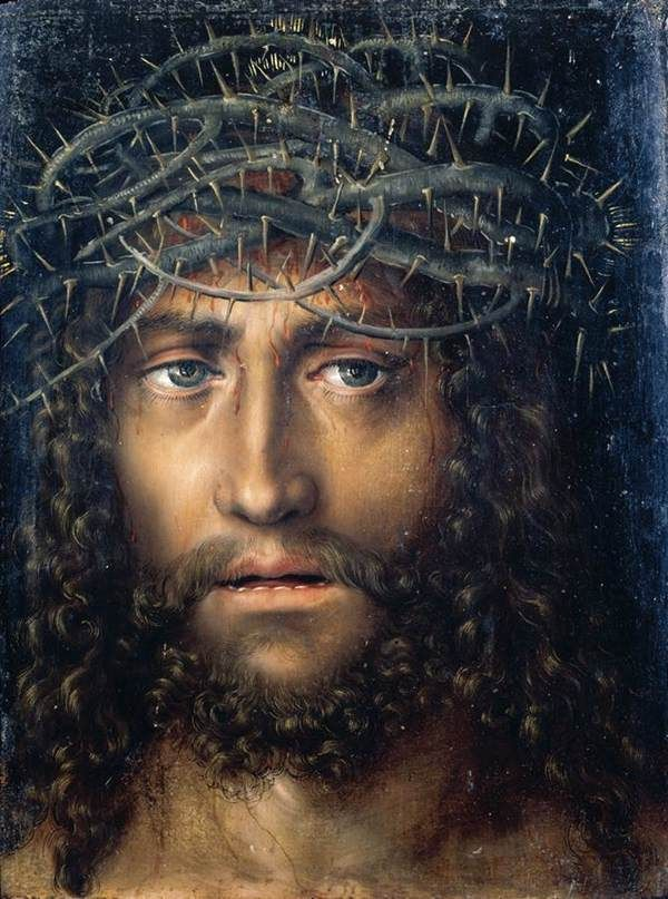 Head of Christ Crowned with Thorns - Lucas Cranach the Elder