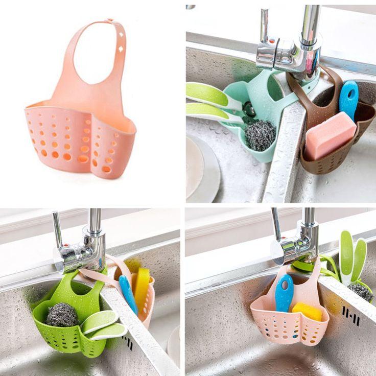 Kitchen Portable Hanging Drain Bag Basket Bath Storage Gadget Tools Sink Holder-in Storage Holders & Racks from Home & Garden on Aliexpress.com | Alibaba Group