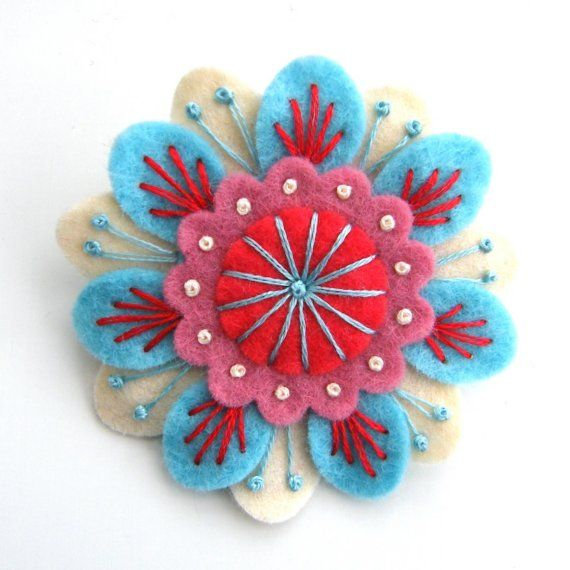pretty handmade felt pin