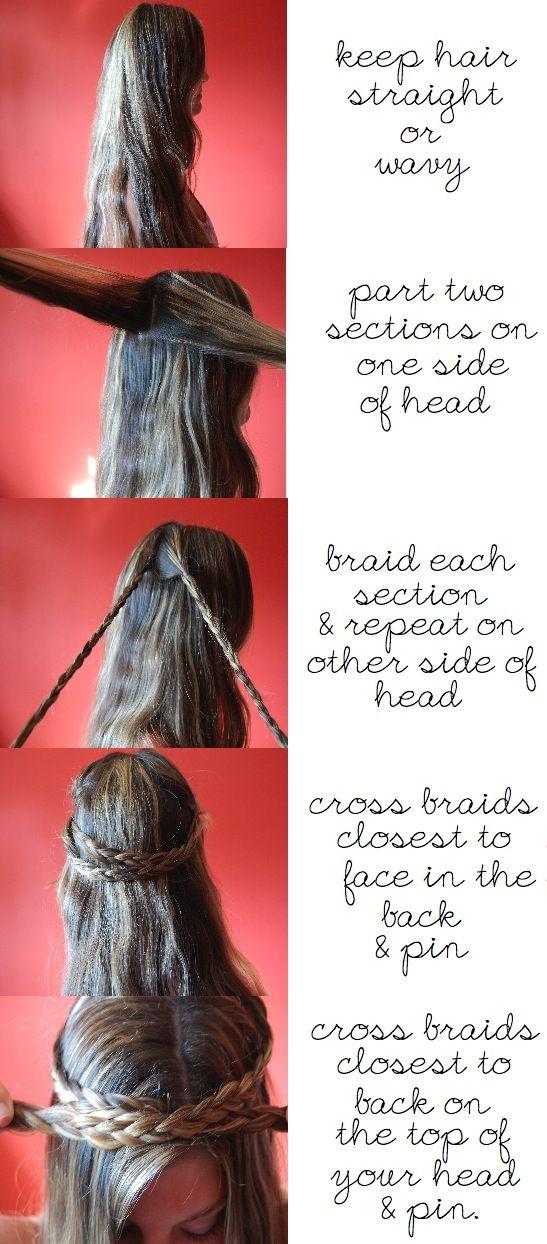crown braid tutorial!