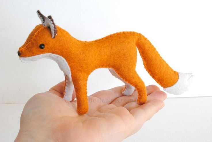 Felt Stuffed Fox Sewing Pattern | Craftsy