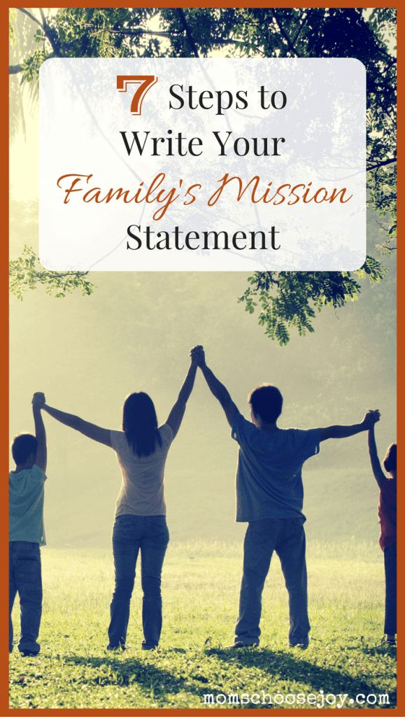 Create a Family Mission Statement in 7 Simple Steps - clarify your family's core values, goals, purpose, and guiding principles. Click to read more.