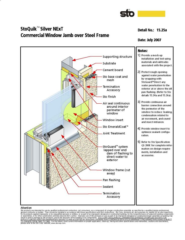 Window jamb section drawing steel frame construction forwards window